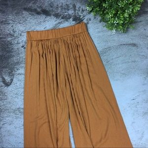 NWT Zara Gold/Mustard Wide Leg Pants